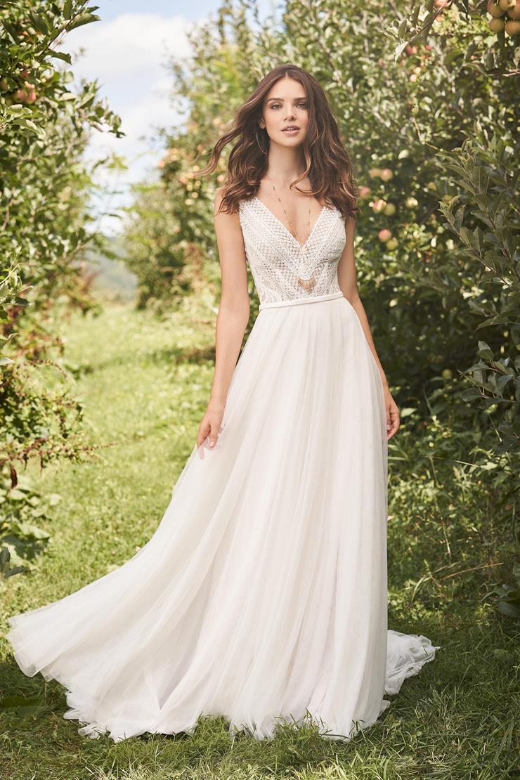 Model wearing a gown by Lillian West. Desktop image