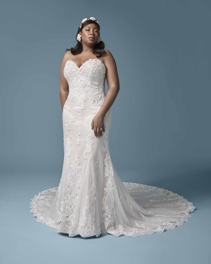 Model wearing a gown by Maggie Sottero. Desktop image